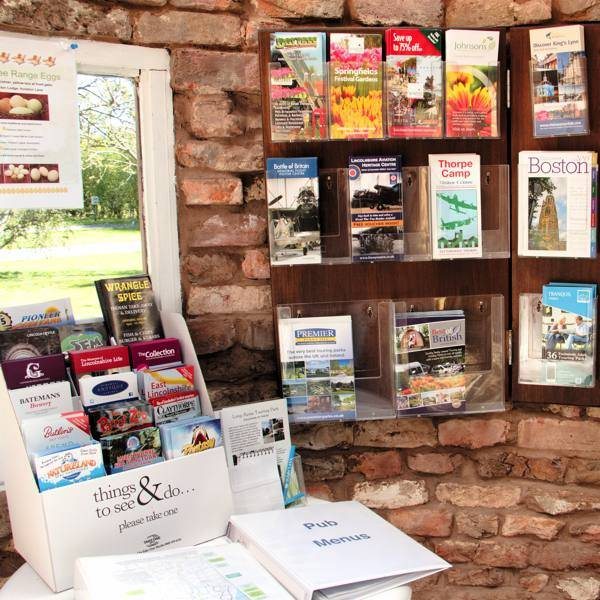 A comprehensive range of Tourist information leaflets, cycle routes and pub guides are available
