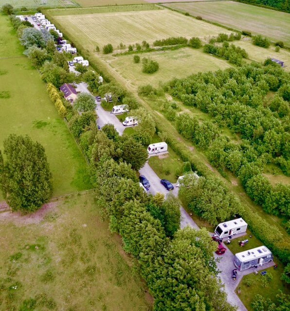 Aerial view of Long Acres Touring Park