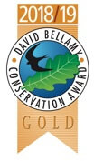 Awarded the Gold David Bellamy Award 2018/19 for commitment to conservation and the environment