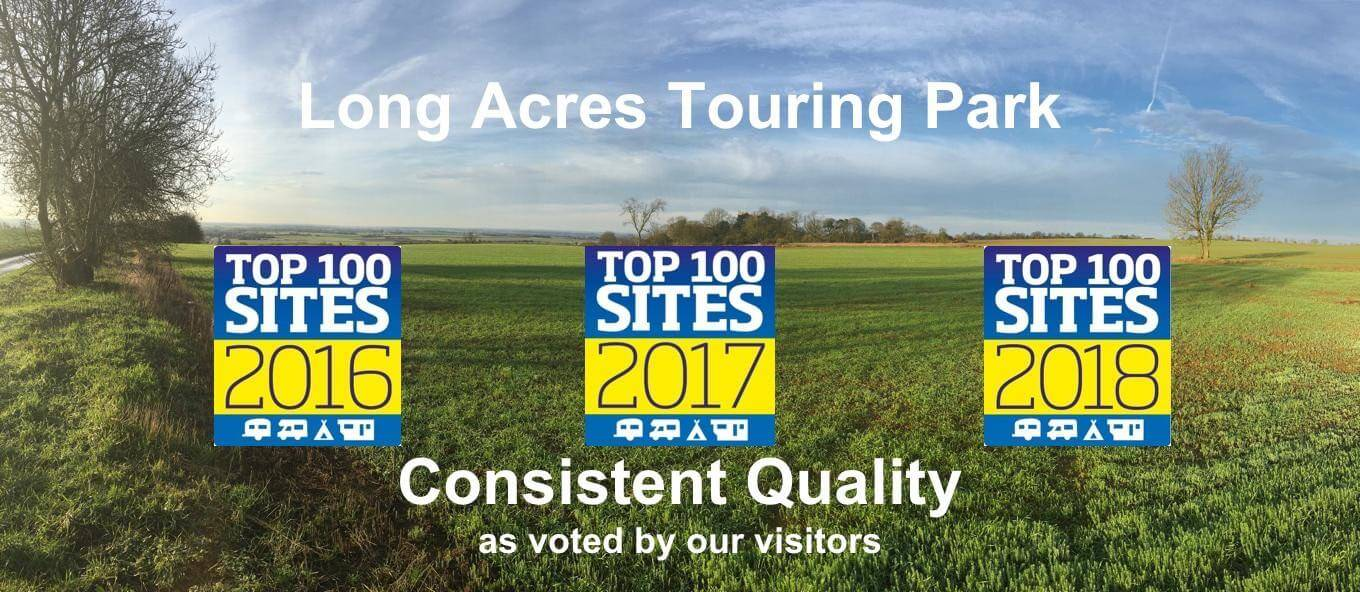 Voted Top 100 Sites 2018 - consistent quality and adult only, at Long Acres Touring Park