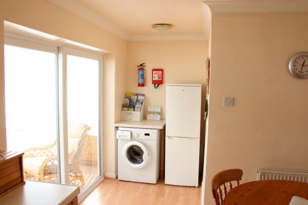 Long Acres holiday cottage fridge freezer and washing machine