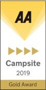 AA 4 Pennant Gold Award for Long Acres Touring Park campsite