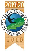 Awarded the Gold David Bellamy Award 2019/20 for commitment to conservation and the environment