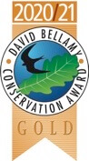 Awarded the Gold David Bellamy Award 2020/21 for commitment to conservation and the environment